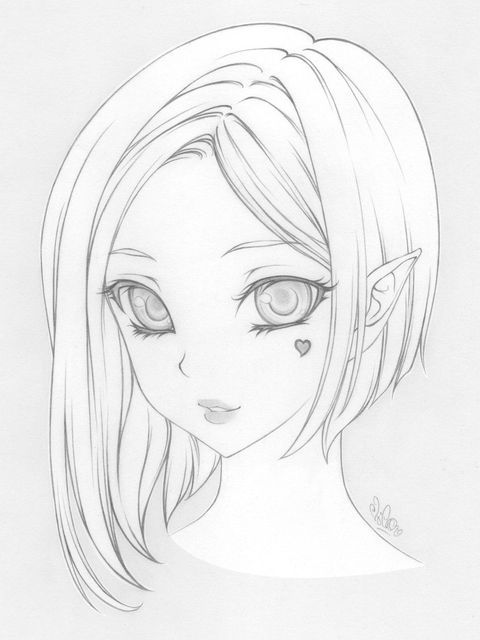 Risunki Karandashom Dlya Srisovki Ochen Legkie Krasivye Devushki 34 Foto Yumor Kartinki I Zabavnye Foto Art Sketches Anime Drawings Art Drawings