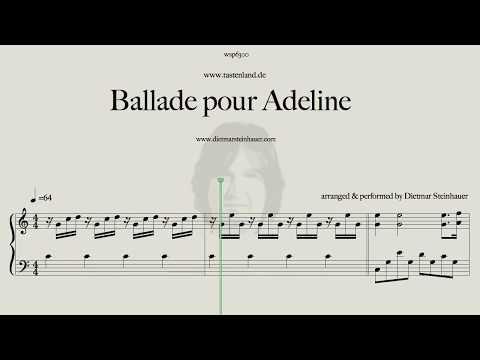 Ballade Pour Adeline Youtube Noty