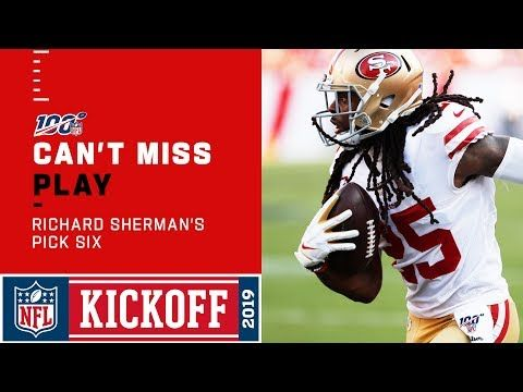Richard Sherman Responds With A 49ers Pick 6 Youtube Richard Sherman 49ers San Francisco 49ers