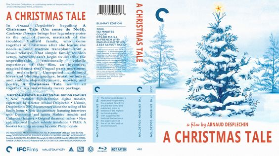 A Christmas Tale Criterion Collection Blu-ray Custom Cover