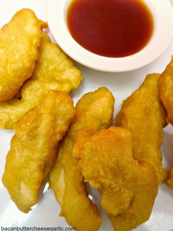 Easy Tempura Chicken (also known as Sweet & Sour Chicken) with a really tasty homemade sauce!