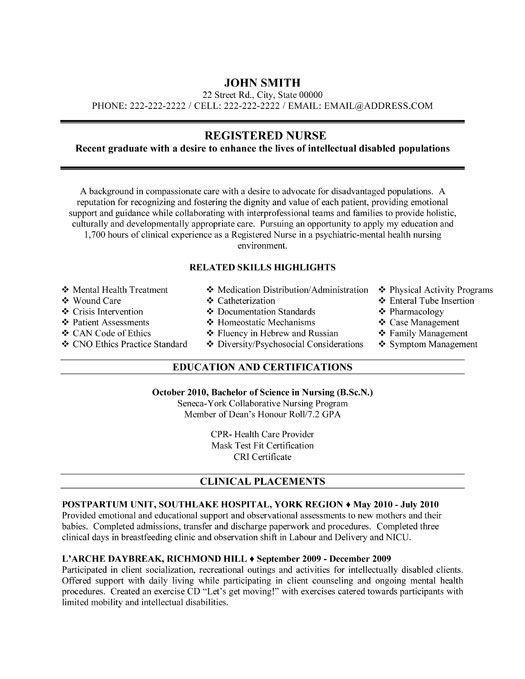 nursing resume on pinterest rn resume new grad nurse and s7trp7tx more nursing resume for new grad