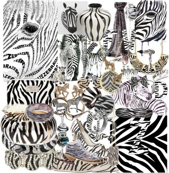 """zebra!!!!!!!!!!!!!!!!"" by princess13inred on Polyvore"