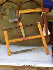 "12"" Folding Bucksaw & Duluth Pack"