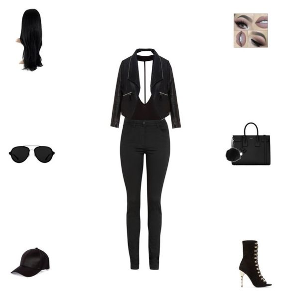 """""""Untitled #225"""" by kendallluvr ❤ liked on Polyvore featuring 3.1 Phillip Lim, Balmain, River Island, T By Alexander Wang, Yves Saint Laurent, Zizzi and Topshop"""