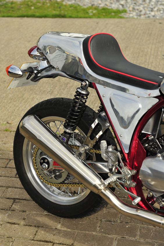 Custom made seat and side panels by John From THE TANK SHOP.