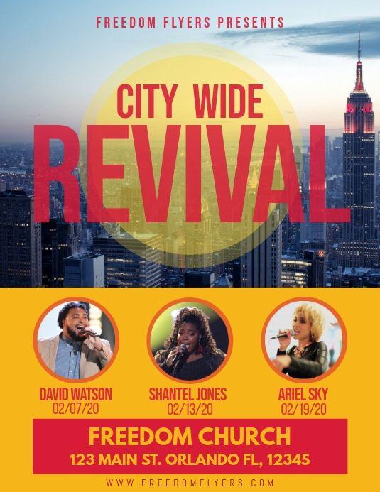 Church Revival Event Template Flyer Flyer Template Template Design
