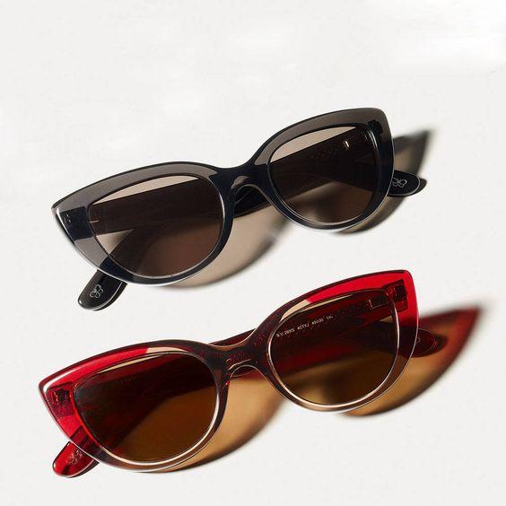 Gray and red tints feel fresh for spring. Bottega Veneta sunglasses, $365, bottegaveneta.com.   - HarpersBAZAAR.com