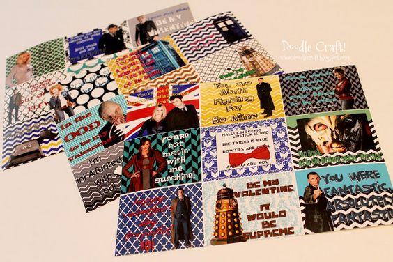 Doodle Craft...: Doctor Who Week Valentine FREEBIES (Part 2)