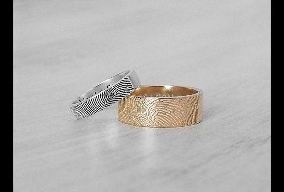 Gold 925 Silber Partner Ring FINGERABDRUCK | DaWanda