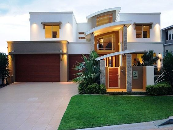 Photo of a tiles house exterior from real australian home for Cool modern house ideas