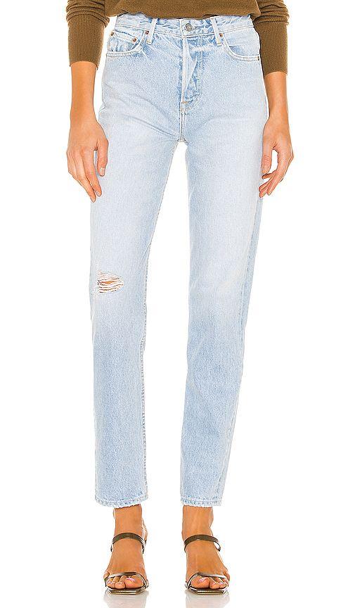 GRLFRND Womens Karolina High-Rise Chewed Hem Jeans