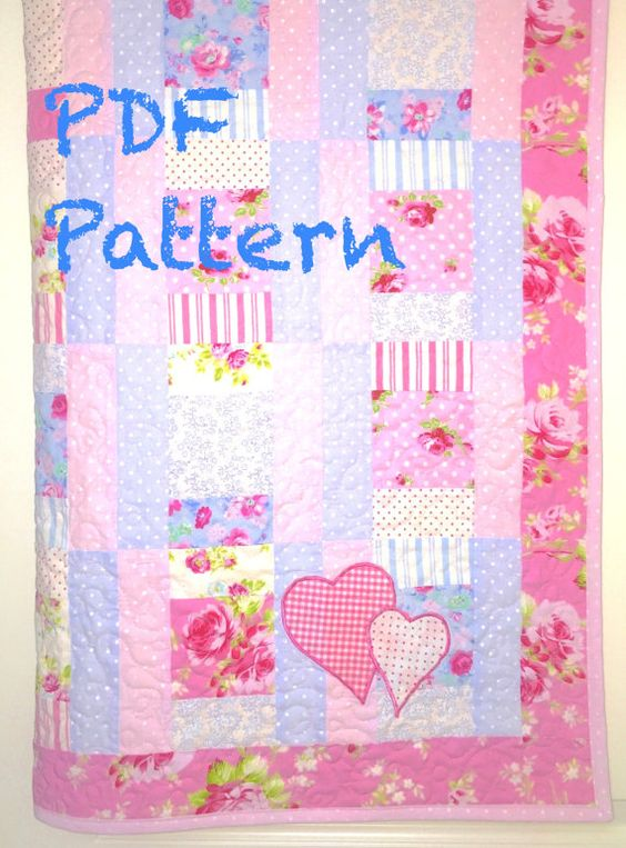 Sweet Baby Girl Quilt Pattern Modern Baby by ChristineJDesigns