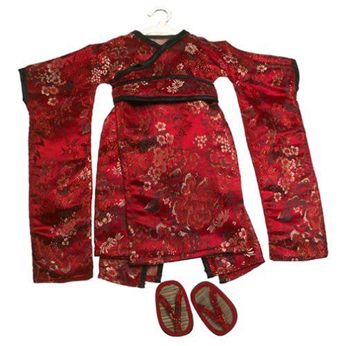 """Red Brocade Japanese Kimono & Sandals ~ Doll Outfit Fits 18"""" American Girl by Carpatina LLC, http://www.amazon.com/dp/B0002OF3XI/ref=cm_sw_r_pi_dp_qkhIrb1P6CABX"""