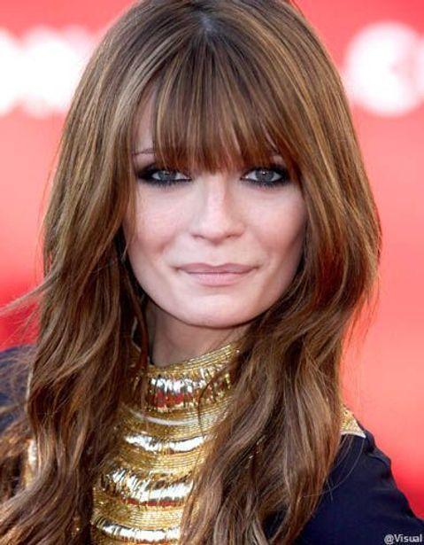 Franges De Stars Les Plus Belles Franges Des Stars Elle Coupe De Cheveux Et Couleur Frange Cheveux