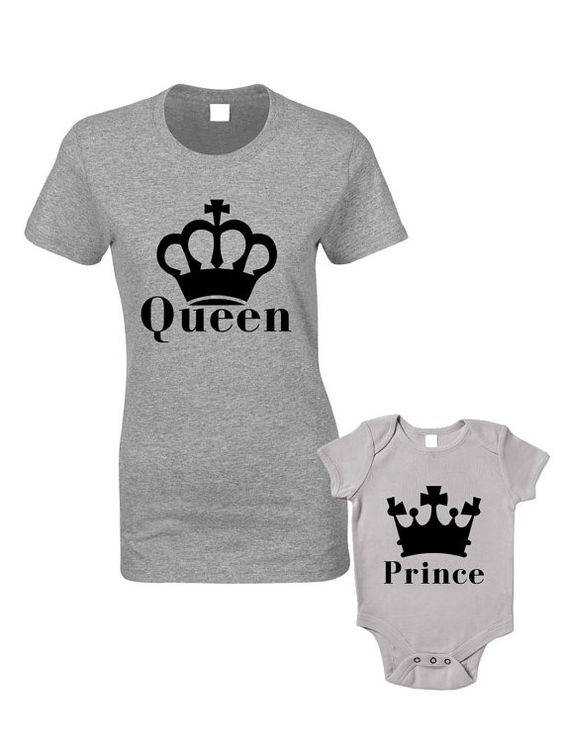 Queen & Prince TShirts or Baby Grow Matching by BlueIvoryLane, £19.99: