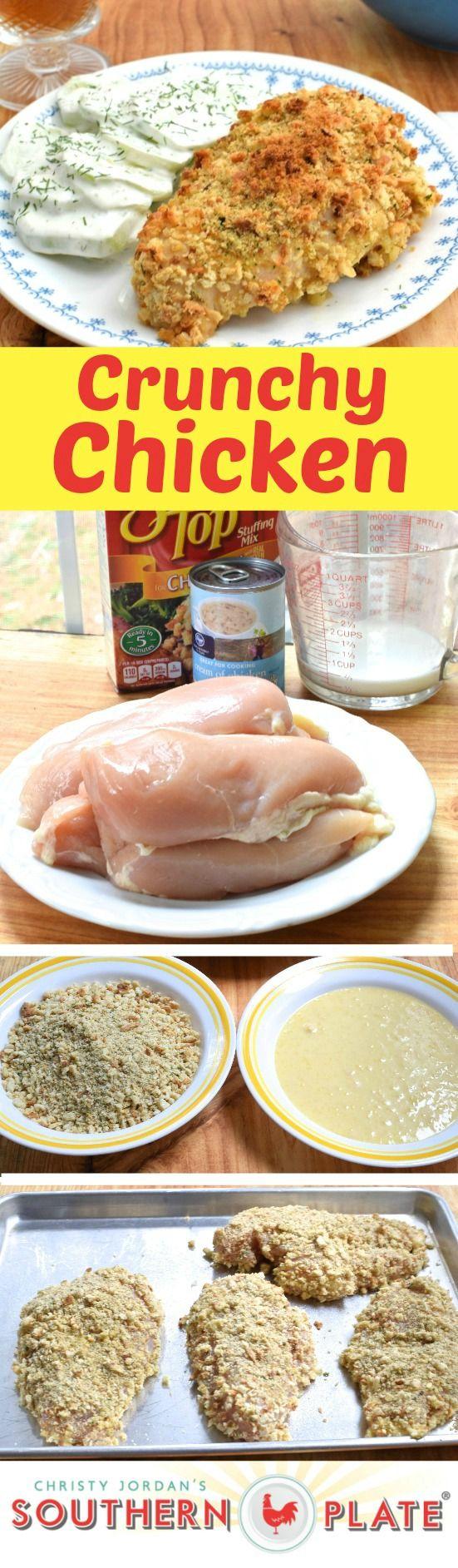 Crunchy chicken receta estufa pechugas de pollo y for Comida sin estufa