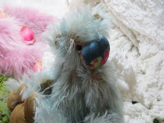 """Künstlerteddies - """"Thaddeus"""", Teddy, Künstlerbär aus Mohair - ein Designerstück von tollkirsche1303 bei DaWanda"""