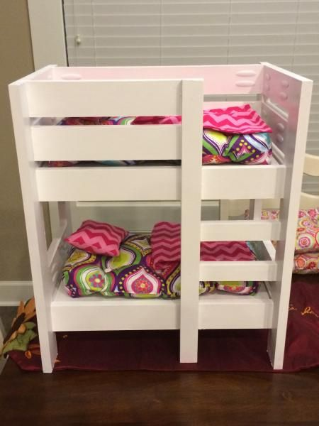 american girl doll bunk beds do it yourself home projects from ana white diy pinterest. Black Bedroom Furniture Sets. Home Design Ideas