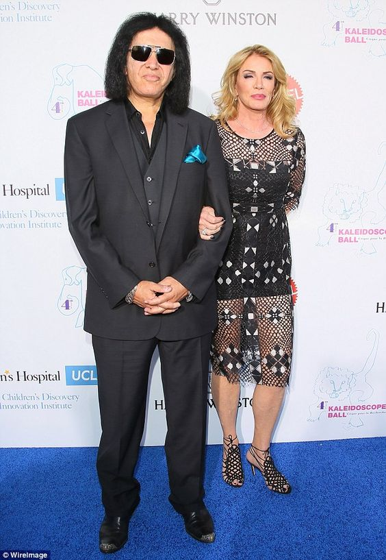 Coordinated couple! Gene Simmons, 66, and his wife Shannon Tweed donned all black rocker ensembles
