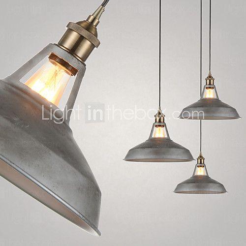 1 Lights/Pendant Lamps/Antique/Vintage Style/Industry Style/Iron MetalsDrop Light - AUD $131.55