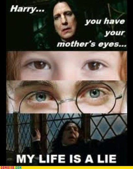 "This is probably the 1 major thing that bugs me throughout the movies.more like ""Harry...you have your mother's...yeah I got nothing...I love your mom.*die*"""