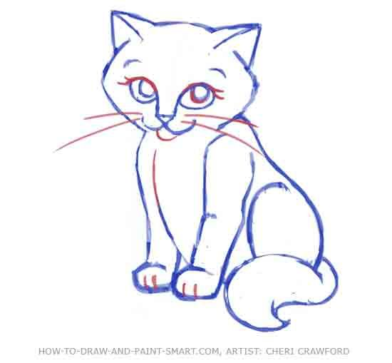 how to draw a cat face step by step drawing graphics pinterest cat face face and cat