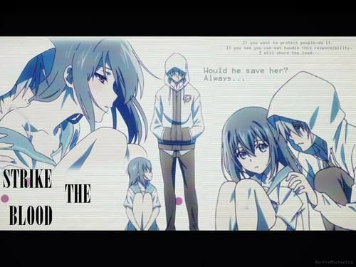 Yukina and Kojou | Strike the Blood