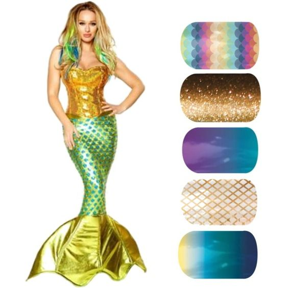 """""""Mermaid"""" Shop for these Jamberry Nail designs at http://christinesnailwraps.jamberrynails.net"""