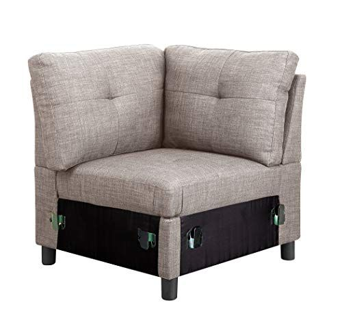 Modular Sectional Sofas Linen Fabric Interlocking Single Sofa Unit Living Room Furniture Sofa Sets Contemporary Sectional Sofa Sectional Sofa Linen Corner Sofa