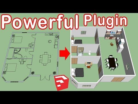 How To Use Dibac In Sketchup Floor Plan To 3d Youtube Sketch Up Architecture Floor Plans How To Plan