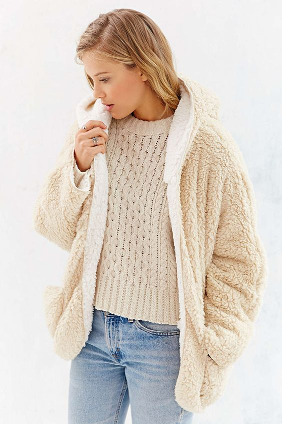 BDG Fuzzy Reversible Jacket | Urban outfitters Urban and Jackets