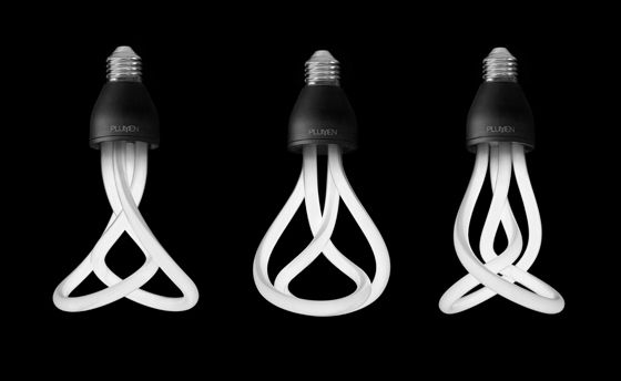 The 'Plumen 001', with its emphasis on virtuosity of form, makes the low-energy light bulb work as hard aesthetically as it does environmentally; Andrew Penketh