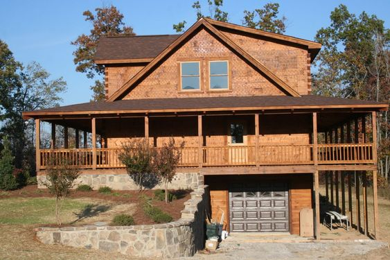 Wrap around porches boats and log cabin homes on pinterest for Cabin wrap around porch