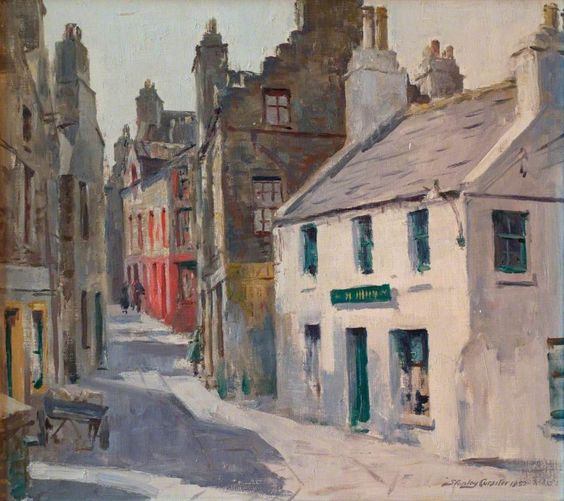 Graham Place, Stromness, Orkney, 1952 by Stanley Cursiter (Scottish 1887-1976)