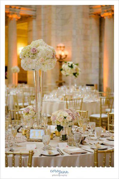 Gold Wedding Reception Decor in Cleveland Ohio