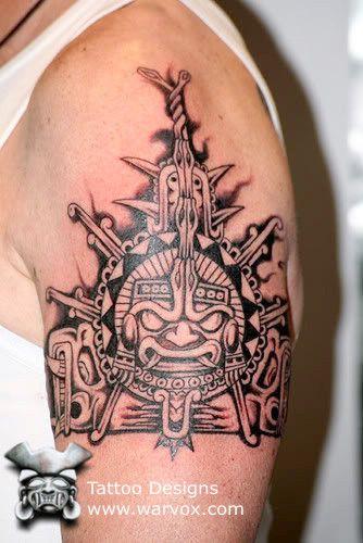 kinich ahau tattoo ll aztec tattoos aztec mayan inca tattoo designs instant download. Black Bedroom Furniture Sets. Home Design Ideas