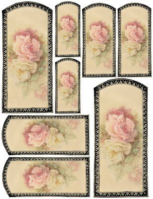 """Vanilla & Roses"" ~ free printable tags or labels"
