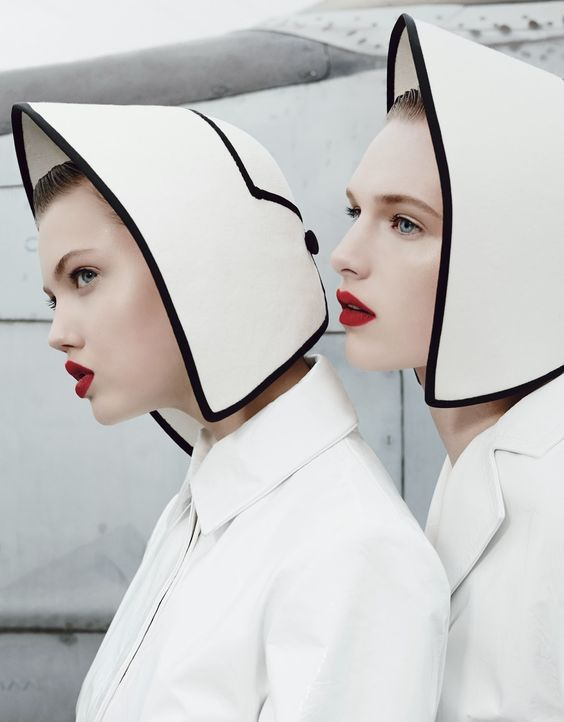 """Super Fly,"" Lindsey Wixson & Ashleigh Good by Emma Summerton for W magazine November 2013"