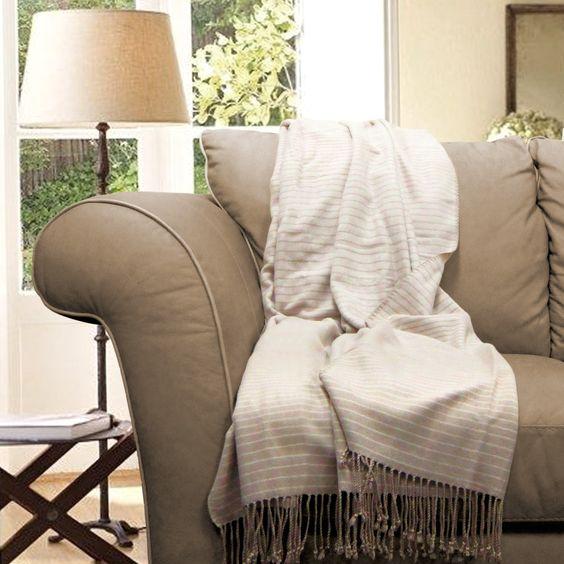 Lori Bamboo Fabric Throw Blanket