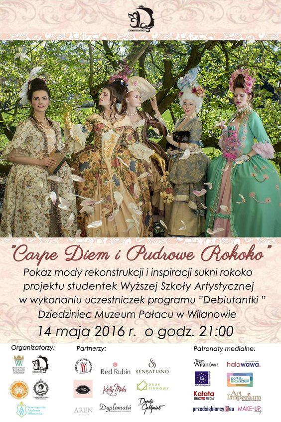 Pokaz mody rokoko w Pałacu w Wilanowie