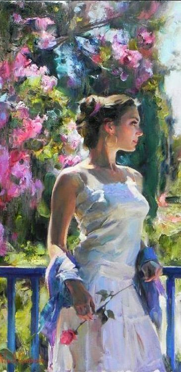 Michael and Inessa Garmash. A Moment Alone. Painting. (61 x 31 cm),from Iryna
