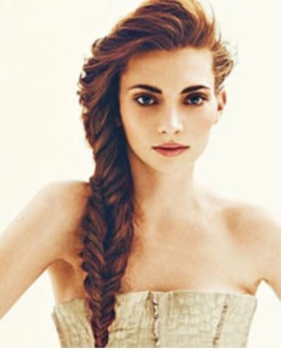 Brilliant Fishtail Braid Hairstyles And Waterfalls On Pinterest Hairstyle Inspiration Daily Dogsangcom
