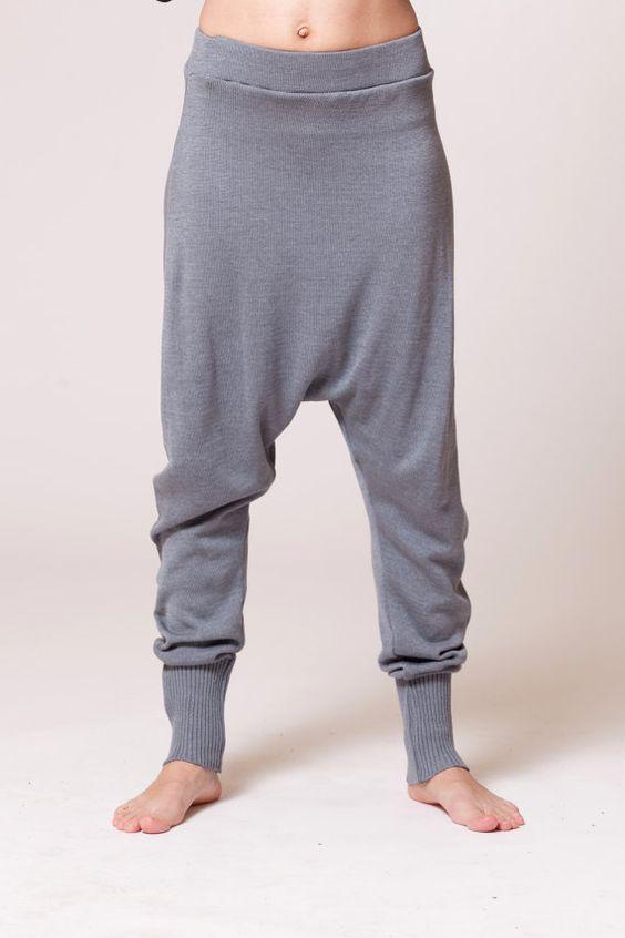 Knitted harem pants / sweater pants van duende74 op Etsy