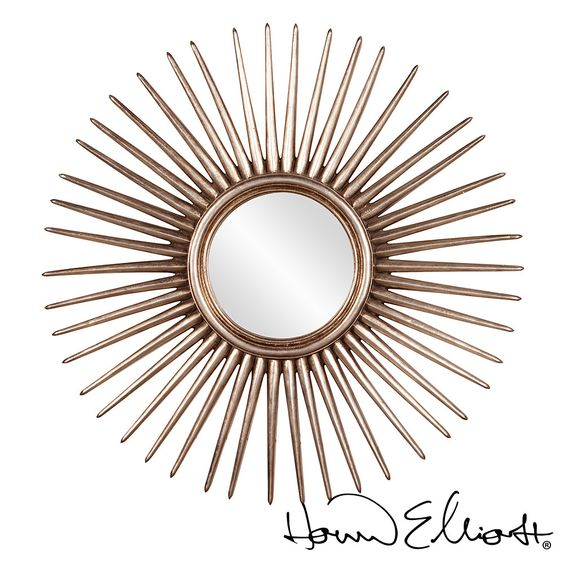 Features a striking starburst pattern, Cascade #mirror is finished in a lovely silver leaf. #howardelliott  http://www.allmodernoutlet.com/howard-elliott-cascade-mirror/?page_context=search&faceted_search=0