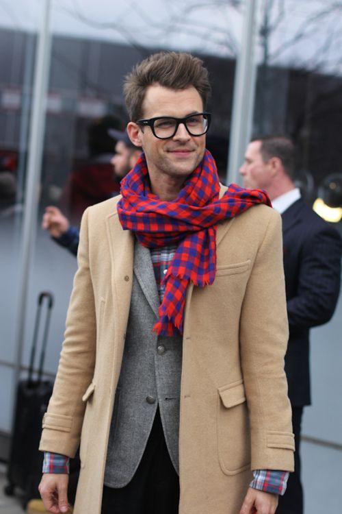 Nice scarf.