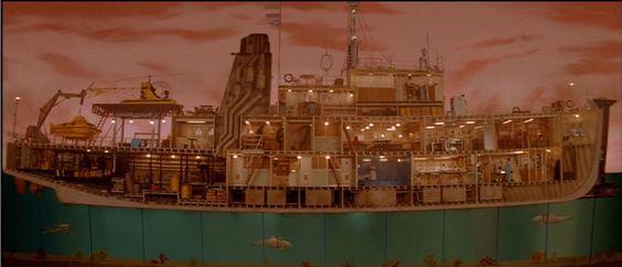The Life Aquatic, ship set