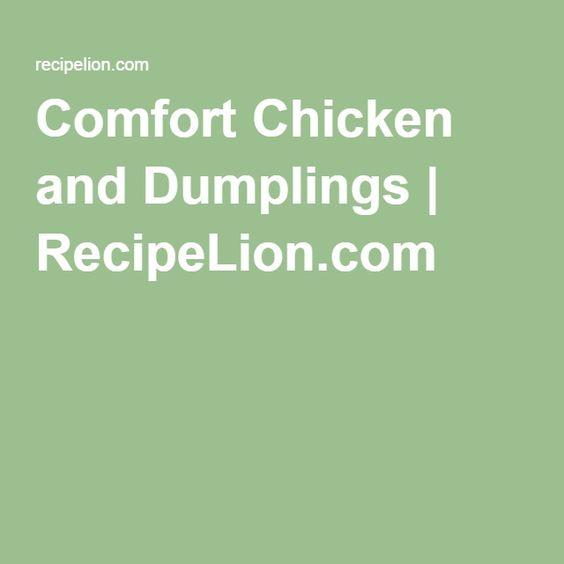 Comfort Chicken and Dumplings | RecipeLion.com