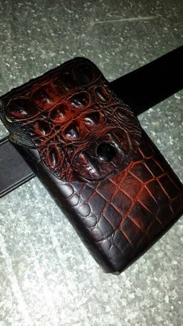 Check out this item in my Etsy shop https://www.etsy.com/listing/228715601/custom-leather-phone-holster-wswivel