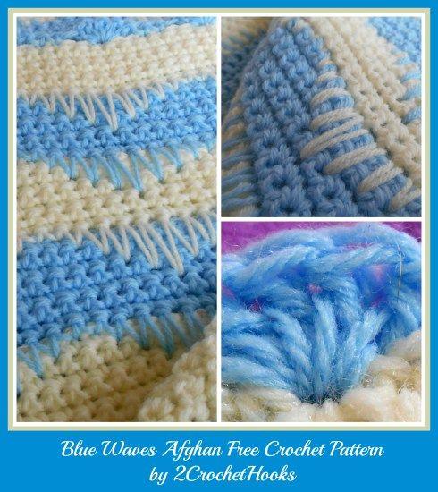 Blue Waves Afghan free crochet pattern by 2crochethooks ...